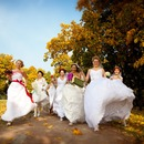 Bride Parade in the Sokolniki park on September 30