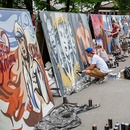 Colourful Moscow Festival: Six-metre-tall graffiti and a street art show