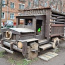 A wonderful wooden yard in Partizanskaya Street