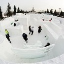 Giant ice maze at the All-Russia Exhibition Center