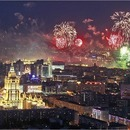 Victory Day fireworks in Moscow