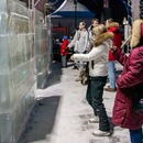 Ice canvasses for light sketching installed in Sokolniki Park