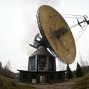 The huge radar and abandoned estate in Moscow region