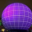 Giant light ball on Manezhnaya Square