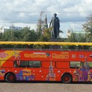 Double-Decker Sightseeing Buses in Moscow