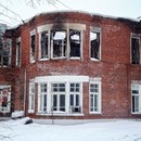 Burnt maternity hospital in Ramenskoe
