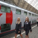 Double-decker train starts operating on Moscow - St. Petersburg route